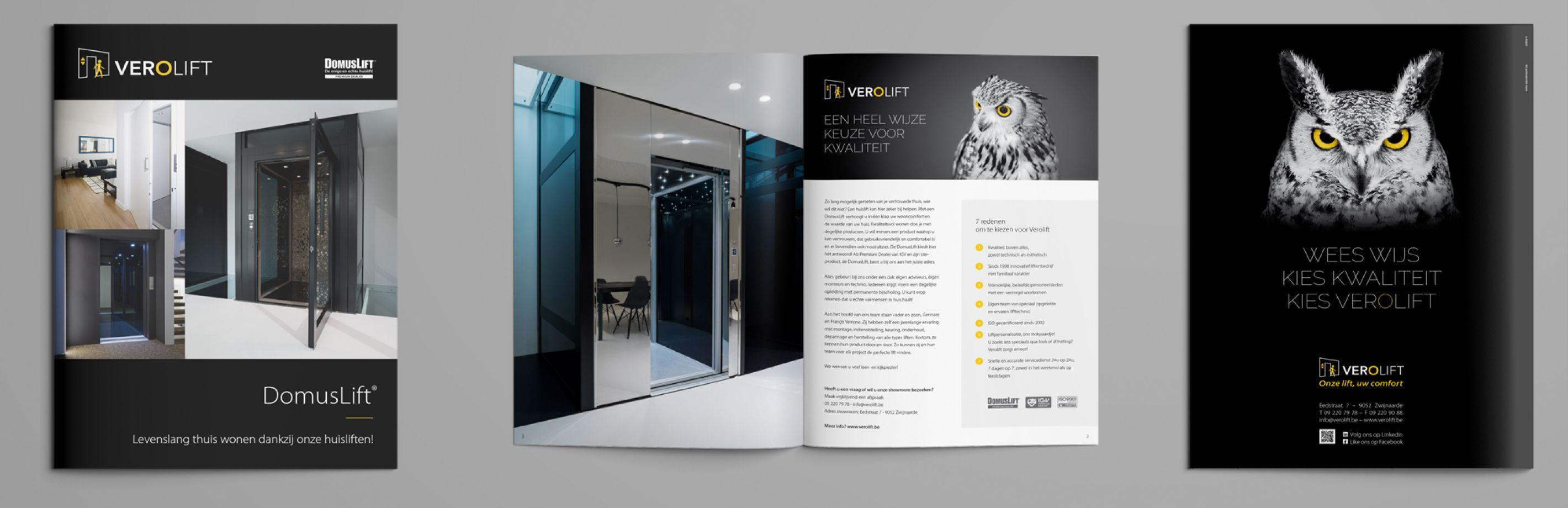 """Verolift brochure """"Domuslift"""""""