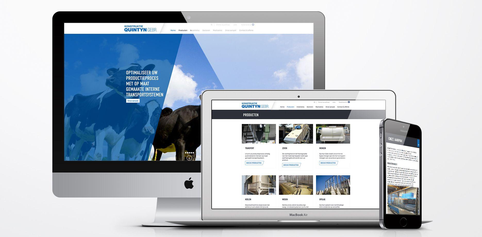 Konstruktie Quintyn Website