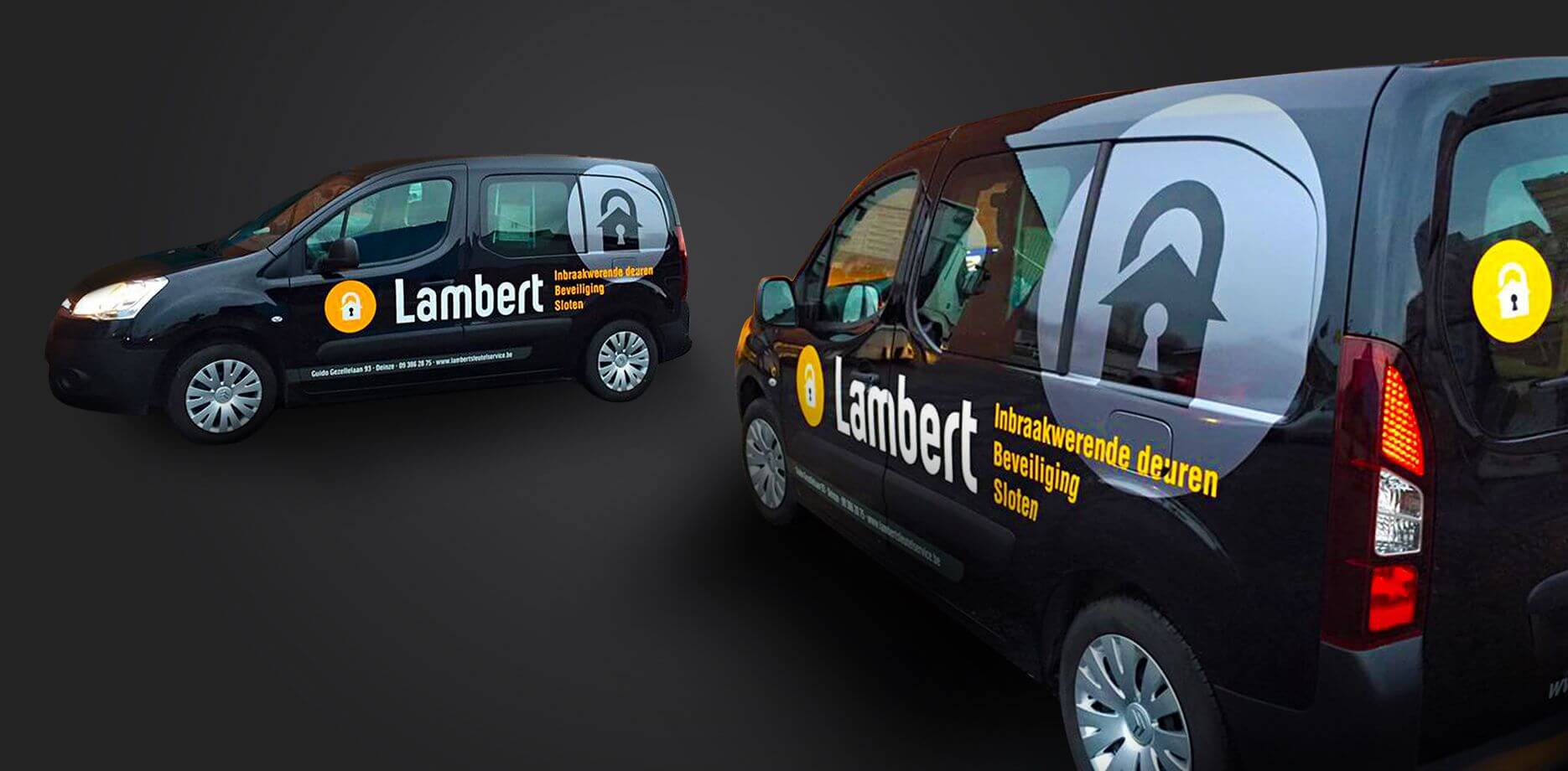 Sleutelservice Lambert voertuigbelettering