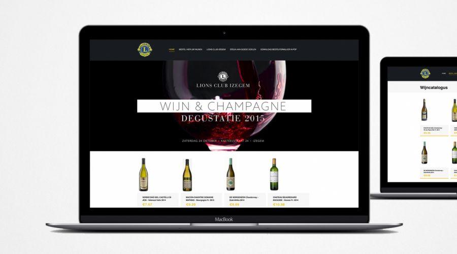 Webshop wijn Lions Club Izegem